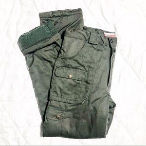VINTAGE Regent St flannel lined cargo pants 34